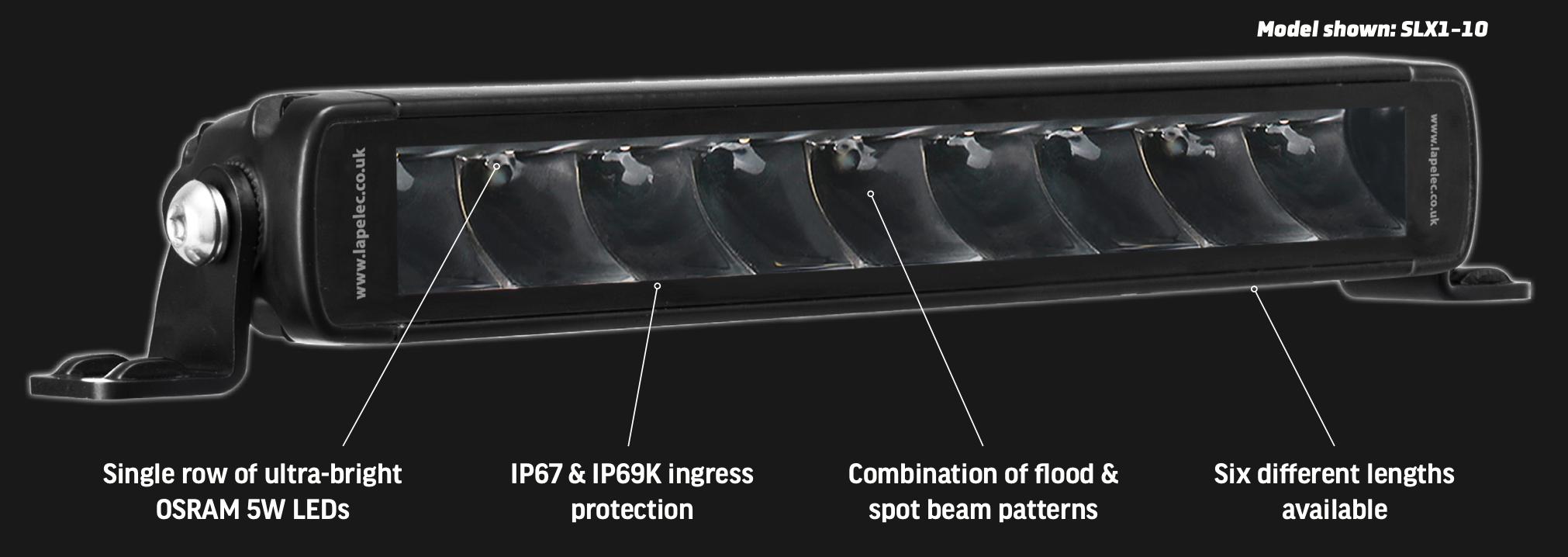 LAP LED Worklight Bars - STROLUX SXL1 - Single Row