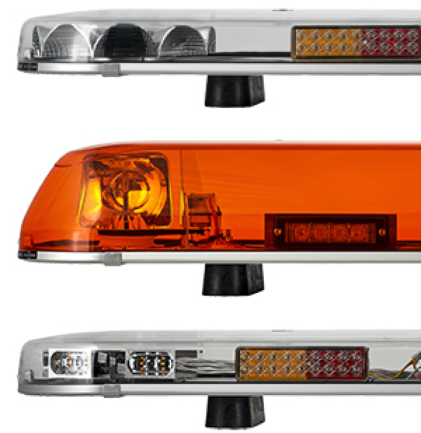 Lap led lightbar lap lb602 rotatingled titan reg65 recovery lightbar 601524mm 2 modules with hazard lights or stoptailindicator aloadofball Choice Image