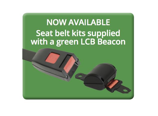 LAP Seat Belt Kit with Green LED Compact Beacons - LCB060G/SBK