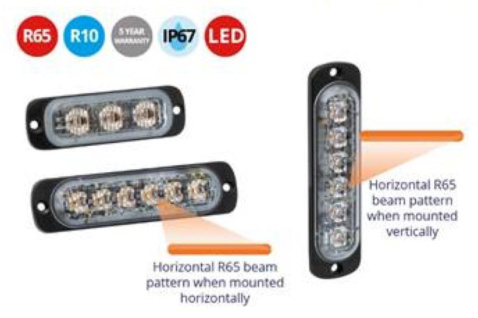 LAP FLED Slimline R65 Warning Light - FLED3A - FLED6A