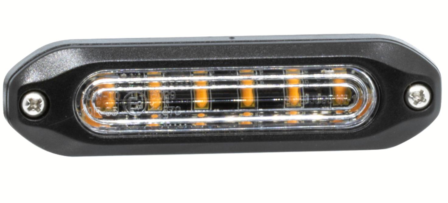 LAP Slimline Amber Warning Light - SLED6A