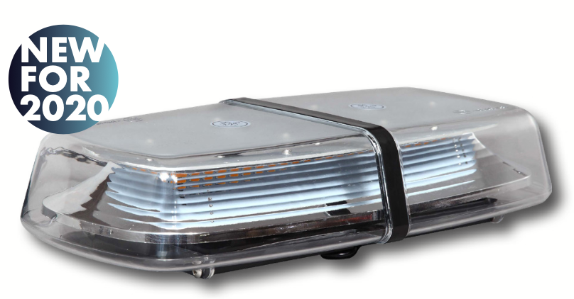 LAP LAP1272 Mini LED Single Bolt/Magnetic Fix - R65 Clear Amber