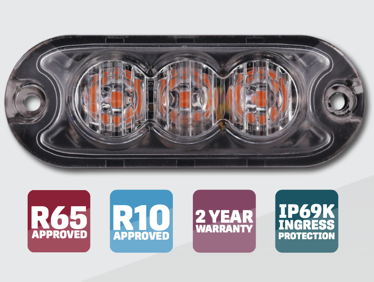 LAP R65 KLED Warning Light - KLED3A - KLED4A - ELED6A