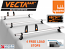 VECTA Bar 3 Van Roof Bars & 4 Adjustable Load Stops